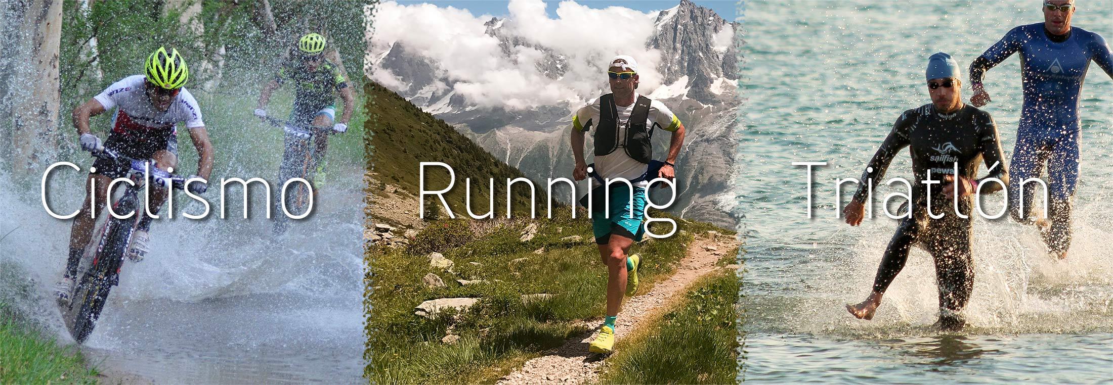 Ciclismo, running, triatlón
